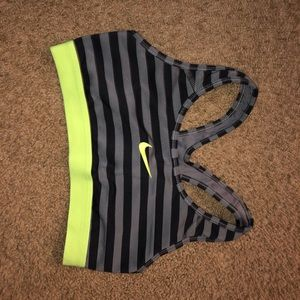 Striped Nike Sports Bra!!